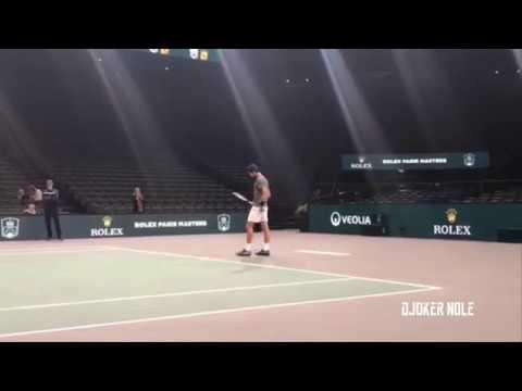 Novak Djokovic First Practice - Rolex Paris Masters 2018 (HD)