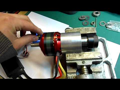 Brushless DC Motor Spindle for CNC - Test Run - by C. Raynerd