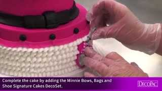 How-To Decorate Minnie Mouse Bags, Bows & Shoes Signature Cake