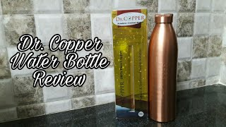 Dr.Copper water bottle | Copper bottle benefits and cleaning