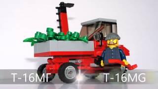 T-16МГ с косилкой и погрузчиком из Лего (мини-инструкция)