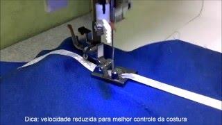 Calcador para Pregar Fitas e Elásticos na Máquina de costura Doméstica