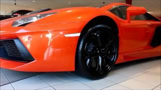 Lamborghini Aventador Orange Lifting Gear