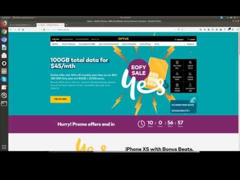 Optus.com.au - Support Chat + Paypal Debit