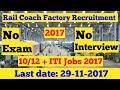 Rail wheel Factory Recruitment 2017!! ITI Jobs 2017!! Sarkari Naukari in Railway 2017