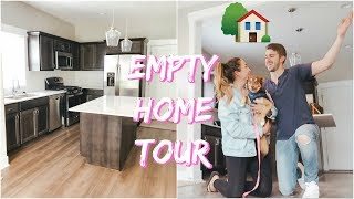 EMPTY HOME TOUR! OUR FIRST HOME TOGETHER!