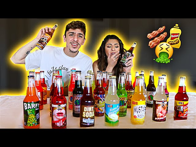 Trying the WORST Soda Flavors in the WORLD - Challenge