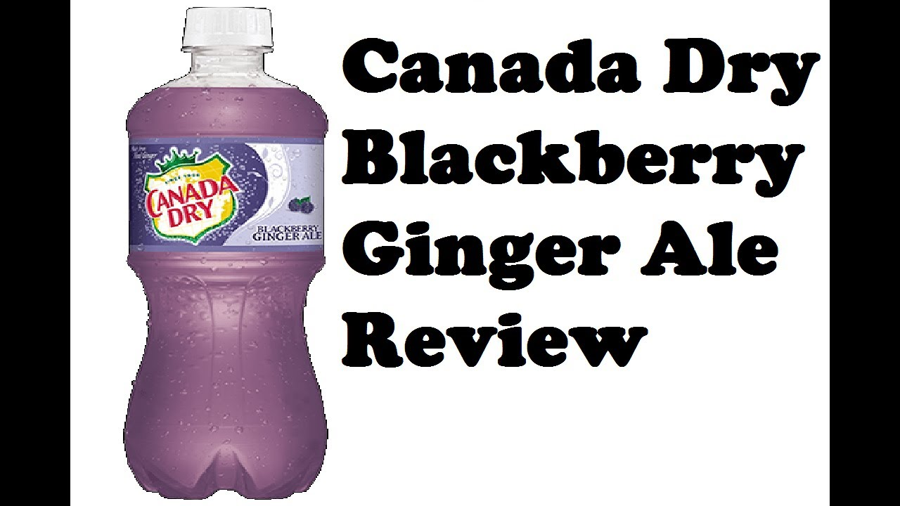 Canada Dry Blackberry Ginger Ale Review Youtube