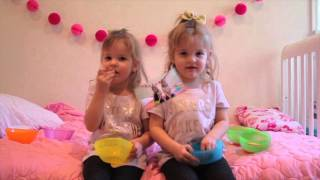 twin girls do #BeanBoozeled challenge