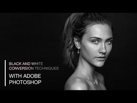 Black and White Photo Conversion for Portrait, Beauty and Fashion