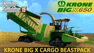 Farming Simulator 15 KRONE BIG X 650 CARGO BEASTPACK