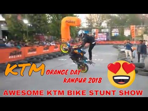 KTM ORANGE DAY KANPUR 2018 FULL VLOG HINDI & ENGLISH // KTM STUNT SHOW | KANPUR RIDER