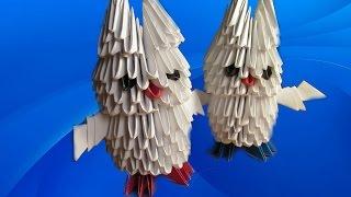 СОВА 3D. Модульное Оригами Своими Руками. Видео(В видео я покажу, как легко можно сделать модульное оригами - полярную сову. ТЕГИ: Оригами, оригами из бумаг..., 2015-10-26T20:55:51.000Z)