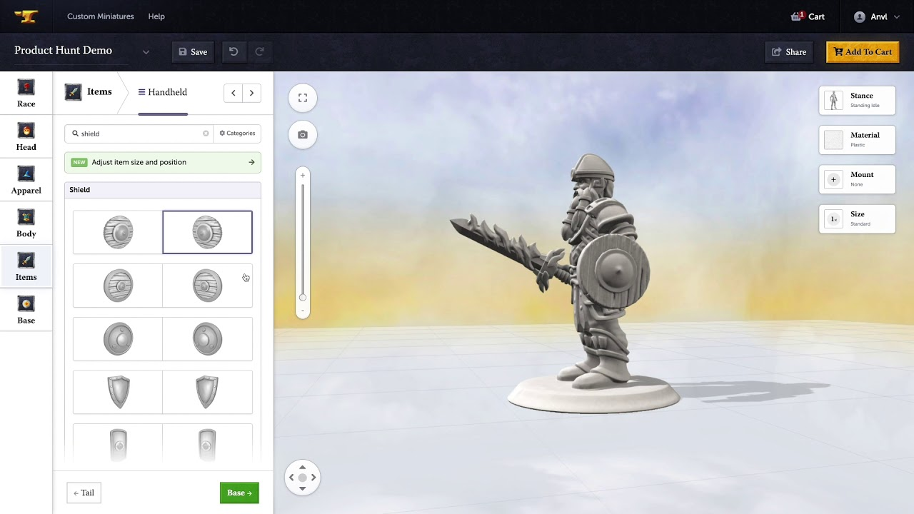 Anvl Custom Miniatures - Create your own 3D printed tabletop