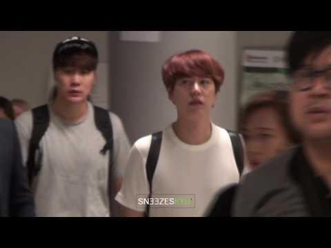 [Sneezes' CAM] 160909 KYUHYUN at Bangkok Airport for A24