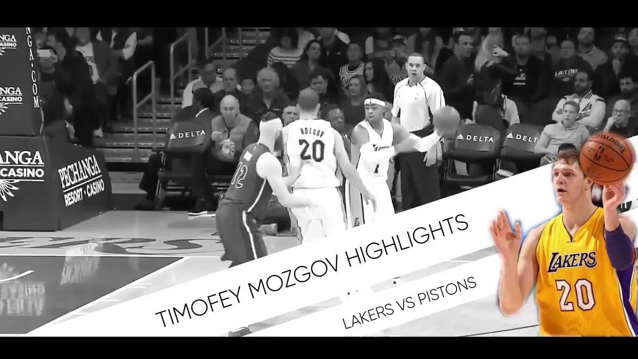 Pistons Vs Lakers: Timofey Mozgov Highlights [Lakers Vs Pistons