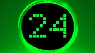 Green Countdown Timer 30 sec ( v 188 ) LED clock timer with sound effects HD