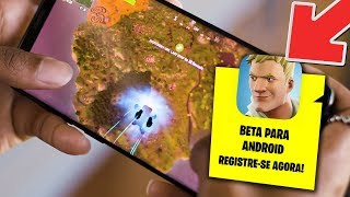 LEFT FORTNITE BATLLE ROYALE FOR ANDROID!!! DOWNLOAD IN THE DESCRIPTION!!