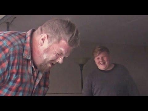 Son Blows Dad