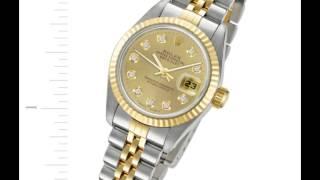 Ladies Rolex Datejust in 18k Diamonds #69173