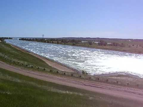 Water flowing through the Spillway at Fort Thompson, SD