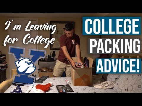 i'm leaving for yale... and COLLEGE FRESHMAN PACKING TIPS!!!