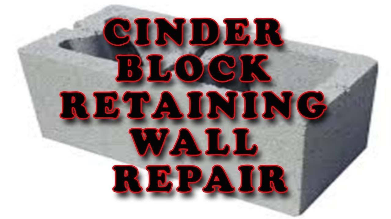 Cinder Block Retaining Wall Repair 704 787 6972 Charlotte Nc
