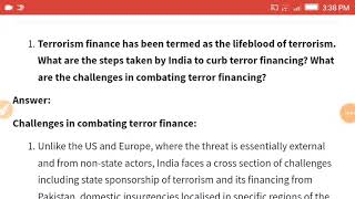 Terrorism finance has been termed as the lifeblood of terrorism. What are the steps taken by India t