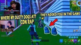 NINJA CALLS CLOAKZY TRASH! CEEZ - DUSTY DOGS ANTHEM! - Fortnite highlights #387