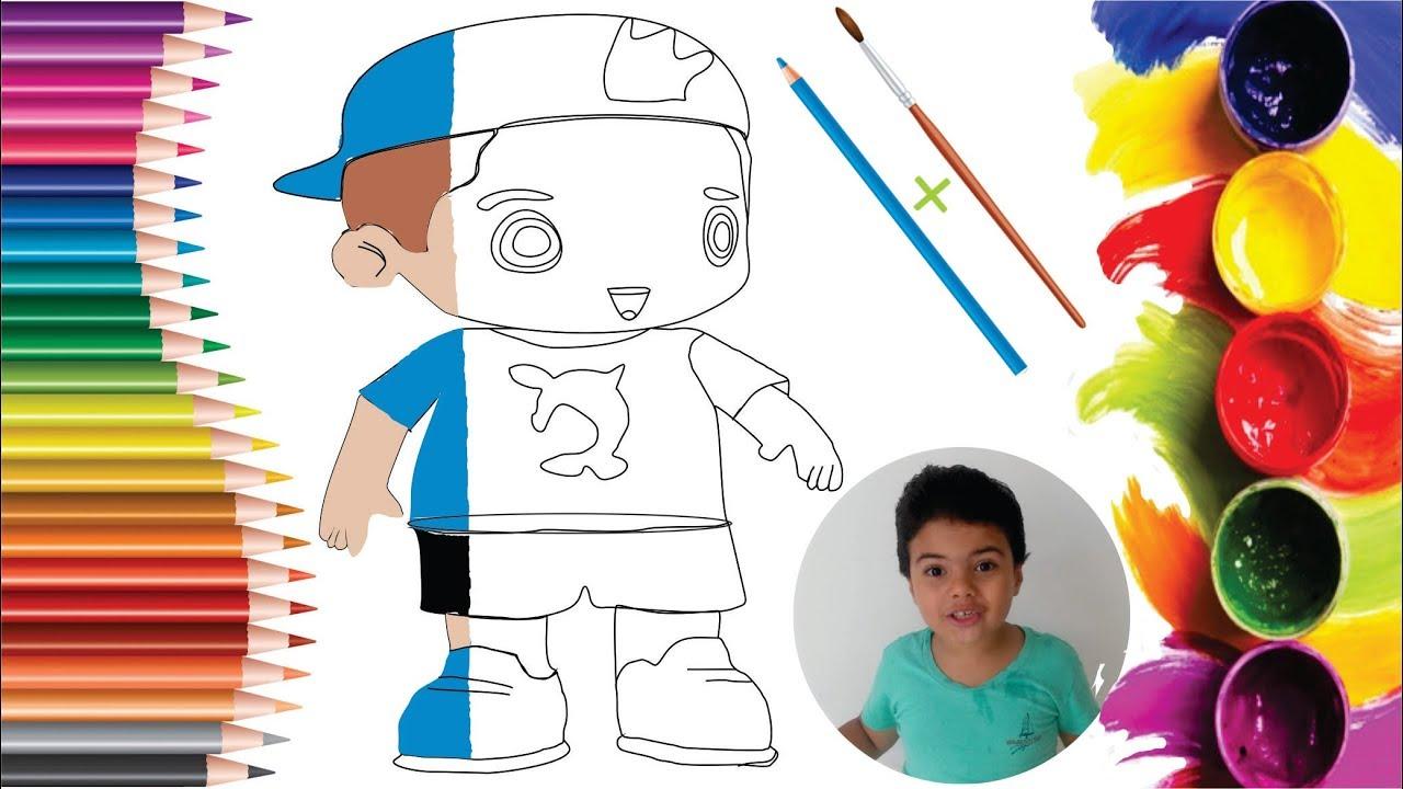 Boneco Do Luccas Neto Como Desenhar Passo A Passo Garotinho De 6 Anos