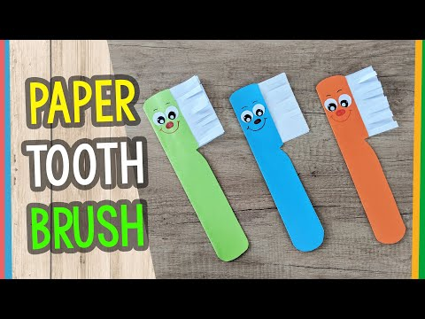 Paper Toothbrush Craft for Kids - great for teaching about teeth and detail hygiene