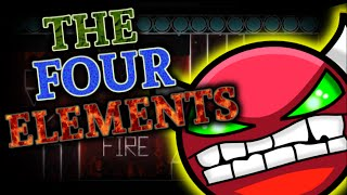 Geometry Dash Hard Demon - The Four Elements - By Eiken - On Stream