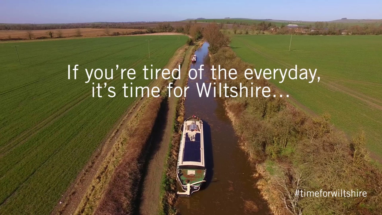 Thumbnail: Wiltshire's Kennet and Avon Canal as seen from the air