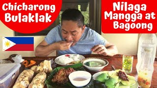 CHICHARON BULAKLAK!!! CHICHARON!!! MANGGA at Bagoong at iba pa!!! Filipino Food!!! Mukbang!!!