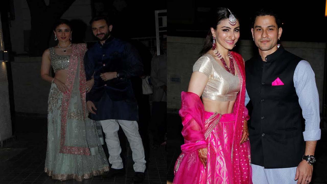 Saif Ali Khan, Kareena Kapoor At Soha Ali Khan & Kunal ...
