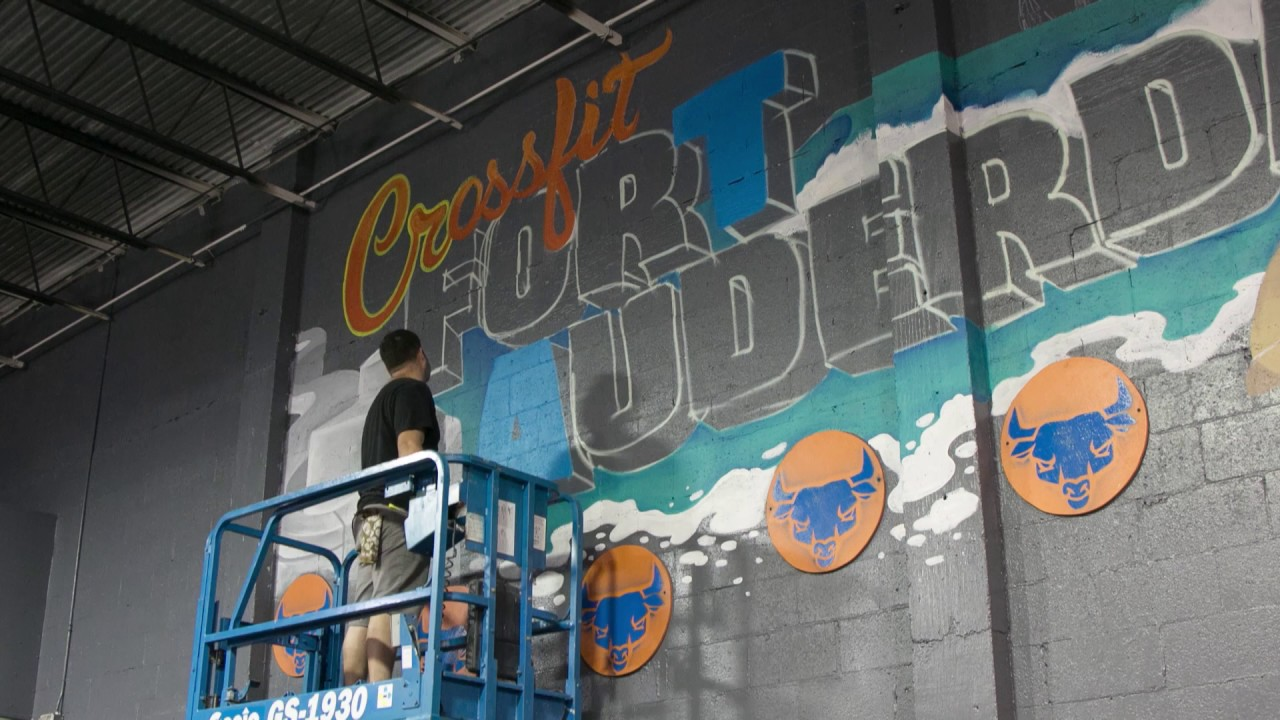 Crossfit Fort Lauderdale Time Lapse Mural Video Blood Sweat And Tears