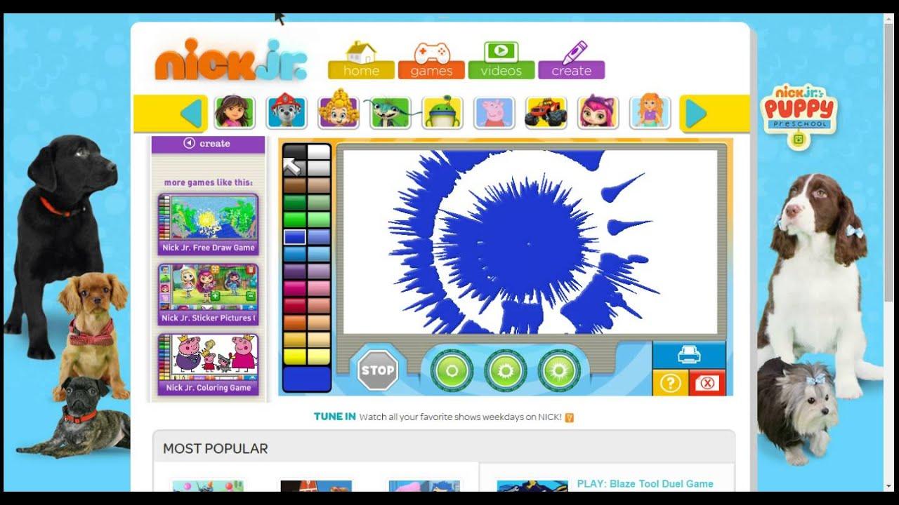 nick jr spin art maker game.webm - YouTube