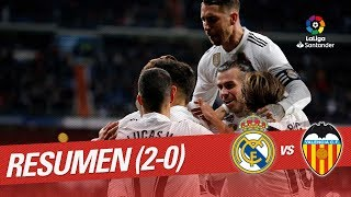 Resumen de Real Madrid vs Valencia CF (2-0)