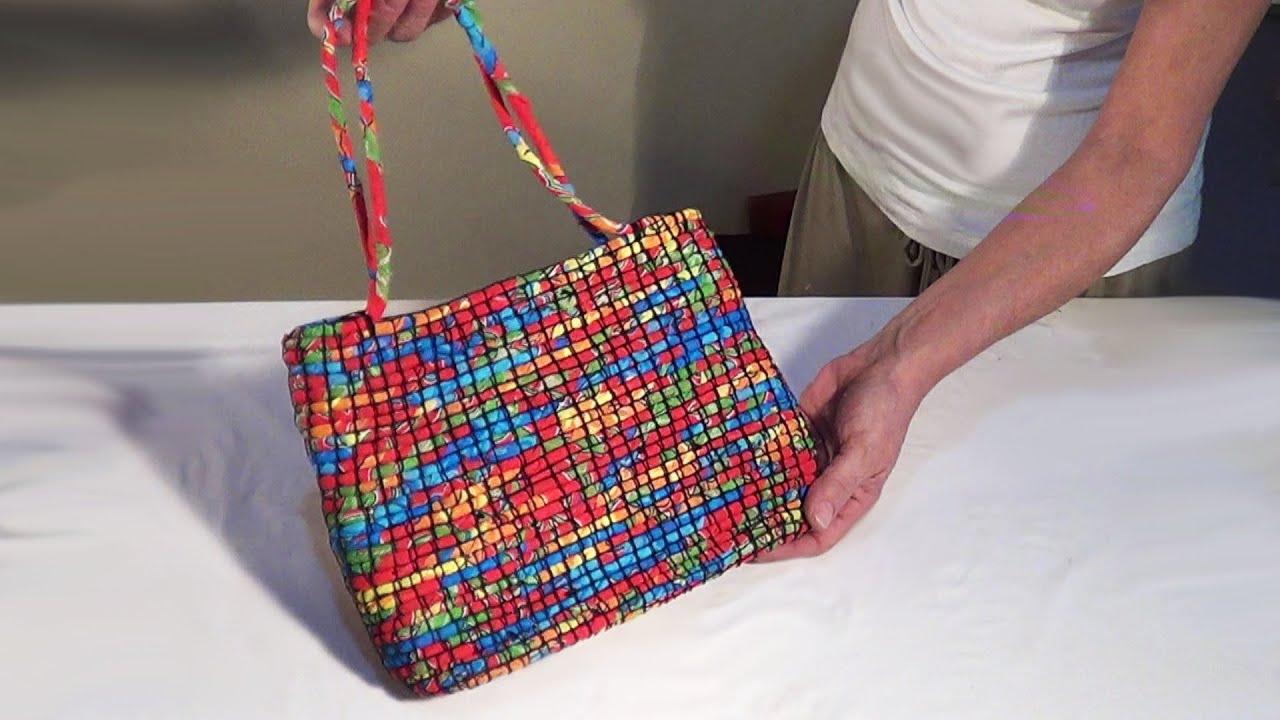 Bolsa De Tecido Vintage : Diy bolsa de corda com tecido fabric covered coiled