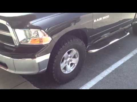 "2017 Ram 1500 >> 2011 RAM 1500 leveled with 35"" Mickey Thompson Baja ATZ - YouTube"