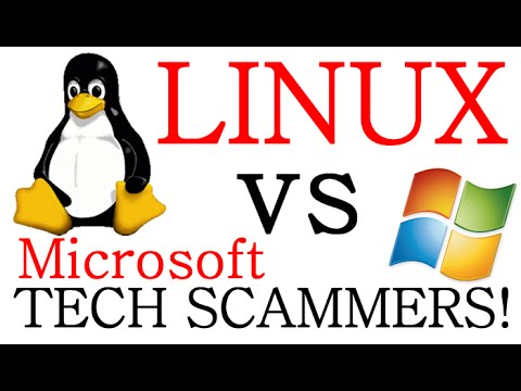 Windows Tech SCAM VS Linux ! Well that's AWKWARD ?! LOL