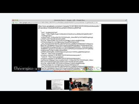 University Class Google + API