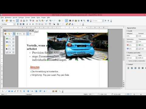 OpenOffice  Bild einfügen - Text neben Bild