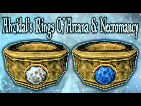 Skyrim SE - Ahzidal's Rings Of Arcana & Necromancy - Unique Rings Guide