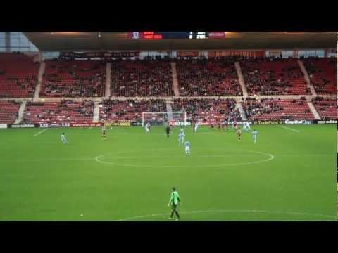 Hastings United V Middlesbrough - Good 1st Half Chance
