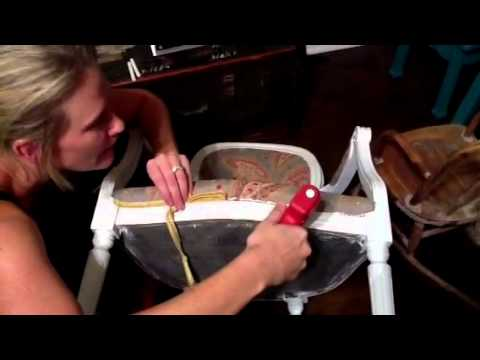 easy hot glue upholstery youtube. Black Bedroom Furniture Sets. Home Design Ideas