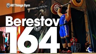 Dmitry Berestov 164kg Power Clean Strict Press 2016 Klokov Power Weekend