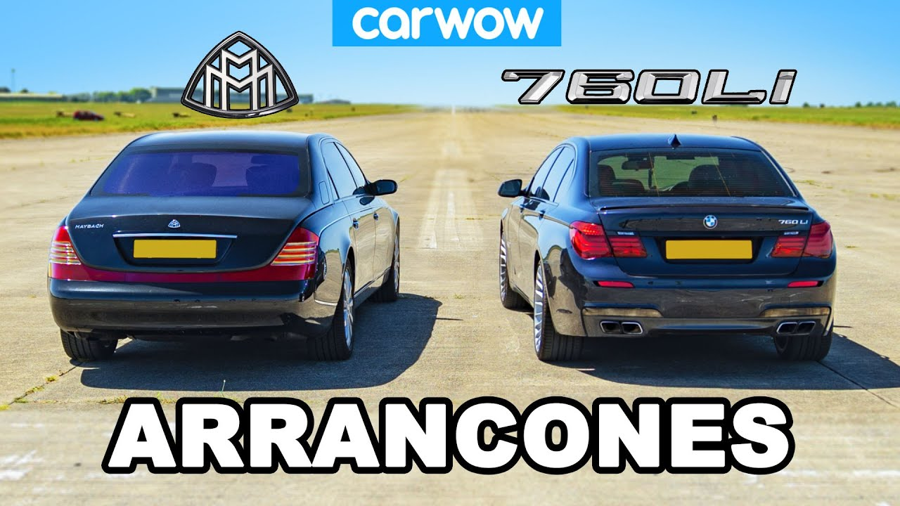 BMW 760Li vs Maybach: ARRANCONES *V12 de Lujo*