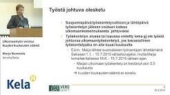 Ulkomaantyön verotus, Kuuden kuukauden sääntö, Marja Nummela, Verohallinto
