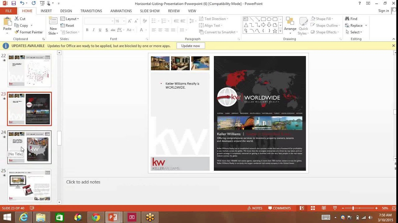 editing the michael lewis marketing suite listing presentation, Powerpoint templates